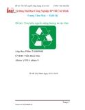 """Tiểu luận: """" Tìm hiểu nguồn năng lượng từ rác thải"""""""