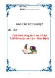 Báo cáo thực tập :Tình hình công tác Lưu trữ tại UBND huyện An Lão - Bình Định
