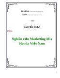 Tiểu luận: Nghiên cứu Marketing Mix Honda Việt Nam