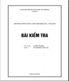 Bài kiểm tra tư tưởng Hồ Chí Minh