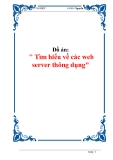 Đồ án: Tìm hiểu về các web server thông dụng