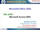 Bài giảng: Microsoft Access 2003