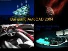 Bài giảng AutoCAD 2004