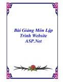 Bài Giảng Môn Lập Trình Website ASP.Net
