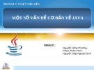 Báo cáo: Một số vấn đề cơ bản về Java