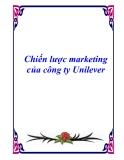 Báo cáo: Chiến lược marketing của công ty Unilever