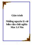 GIÁO TRÌNH NHỮNG NGUYÊN LÝ CƠ BẢN CỦA CHỦ NGHĨA MÁC LÊ NIN
