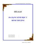 Tiểu luận: Đa dạng sinh học U Minh Thượng