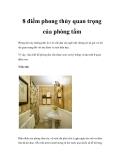 8 điểm phong thủy quan trọng của phòng tắm