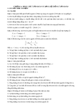 Hóa đại cương 1 - Bài tập chương 6