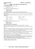 Hóa đại cương 1 - Bài tập chương 7