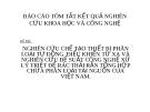 ĐỀ TÀI:  NGHIÊN CỨU CHẾ TẠO THIẾT BỊ PHÂN LOẠI TỰ ĐỘNG ĐIỀU KHIỂN TỪ XA VÀ NGHIÊN CỨU ĐỀ SUẤT CÔNG NGHỆ XỬ LÝ TRIỆT ĐỂ RÁC
