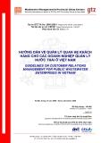 Hướng dẫn quản lý quan hệ khách hàng trong các doanh nghiệp xử lý nước thải ở Việt Nam