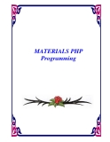MATERIALS PHP Programming