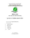 Báo cáo: Quản lý điểm sinh viên