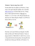 Windows 7 đọ sức cùng Vista và XP