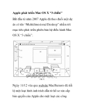"""Apple phát triển Mac OS X """"3 chiều"""" Bắt đầu từ năm 2007"""