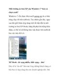 """Môi trường ảo hoá XP của Windows 7 """"kén cá chọn canh"""""""
