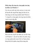 Phần cứng sẵn sàng cho công nghệ cảm ứng đa điểm của Windows 7