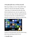 10 bản phân phối Linux có thể bạn chưa biết
