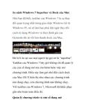 So sánh Windows 7 Superbar và Dock của Mac