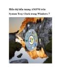 Hiển thị biểu tượng AM/PM trên System Tray Clock trong Windows 7
