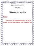 Báo cáo tốt nghiệp: Thực trạng và một số biện pháp giải quyết việc làm cho lao động nông thôn tại huyện Khánh Vĩnh - Khánh Hòa