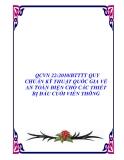 QCVN 22:2010/BTTTT QUY CHUẨN KỸ THUẬT QUỐC GIA VỀ AN TOÀN ĐIỆN CHO CÁC THIẾT BỊ ĐẦU CUỐI VIỄN THÔNG