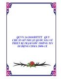 QCVN 14:2010/BTTTT   QUY CHUẨN KỸ THUẬT QUỐC GIA VỀ THIẾT BỊ TRẠM GỐC THÔNG TIN DI ĐỘNG CDMA 2000–1X