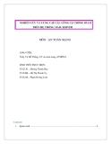 ĐỀ TÀI : NGHIÊN CỨU  VÀ CUNG CẤP CÁC CÔNG CỤ  CHỐNG SPAM TRÊN HỆ THỐNG MAIL SERVER