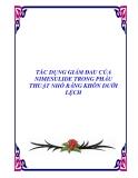 TÁC DỤNG GIẢM ĐAU CỦA NIMESULIDE TRONG PHẪU THUẬT NHỔ RĂNG KHÔN DƯỚI LỆCH