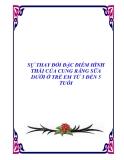 SỰ THAY ĐỔI ĐẶC ĐIỂM HÌNH THÁI CỦA CUNG RĂNG SỮA DƯỚI Ở TRẺ EM TỪ 3 ĐẾN 5 TUỔI