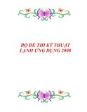 BỘ ĐỀ THI KỸ THUẬT LẠNH ỨNG DỤNG 2008