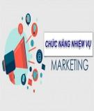 Chức năng nhiệm vụ chính của phòng Marketing trong doanh nghiệp
