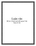 Chính sách đối ngoại Việt Nam 45-46