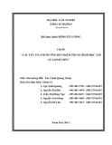 Đề tài : CÁC YẾU TỐ ẢNH HƯỞNG ĐẾN ĐIỂM TRUNG BÌNH HỌC TẬP CỦA SINH VIÊN
