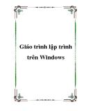 Giáo trình lập trình trên Windows
