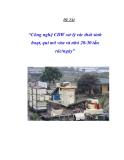Công nghệ xử lý rác MBT - CD.08 (Mechanic Bio Treatment)
