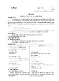 Giáo án lớp 4 năm 2011 - Tuần 20