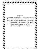 Luận văn: QUY TRÌNH KÝ KẾT VÀ TỔ CHỨC THỰC HIỆN HỢP ĐỒNG XUẤT KHẨU TẠI CÔNG TY TNHH MỘT THÀNH VIÊN THƯƠNG MẠI XUẤT NHẬP KHẨU HẢI HÀ