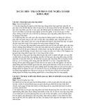 20 Câu hỏi - Trả lời phần Chủ nghĩa xã hội khoa học