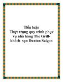 Tiểu luận - Thực trạng quy trình phục vụ nhà hàng The Grill- khách  sạn Duxton Saigon
