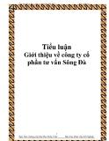 """Báo cáo thực tập """"Giới thiệu về công ty cổ phần tư vấn Sông Đà"""""""