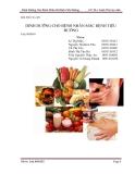 Báo cáo: Dinh dưỡng cho bệnh nhân mắc bệnh tiểu đường