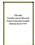 Các phương pháp tiên tiến quản trị dự án công nghệ thông tin