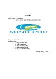 Phân tích tài chính -  công ty cổ phần Minh Phú