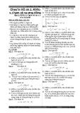 Tài liệu ôn thi đại học môn toán