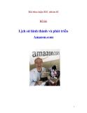 Bài thảo luận: Lịch sử hình thành và phát triển Amazon.com