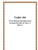 Đề tài: Đánh giá hoạt động sinh kế của người dân miền núi  thôn 1-5 Nghệ An