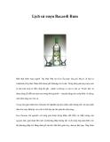 Lịch sử rượu Bacardi Rum